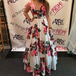 Jovani floral prom dress